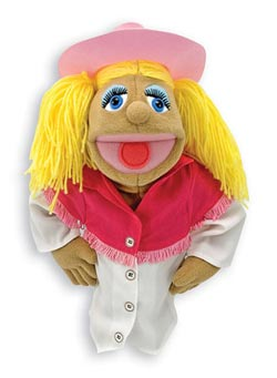 Cowgirl Puppet Toy