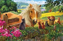 New Neighbors Horses Jigsaw Puzzle