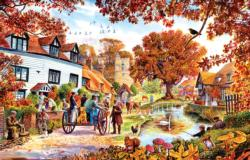 Village in Autumn Nostalgic / Retro Jigsaw Puzzle