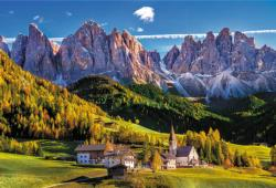 Val Di Funes Valley, Dolomites, Italy Italy Jigsaw Puzzle