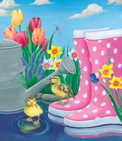 Puddle Fun Spring Jigsaw Puzzle