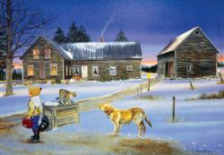 School Bus Watch Winter Jigsaw Puzzle