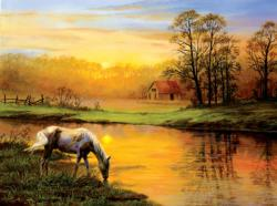 Pastoral Moment Sunrise/Sunset Jigsaw Puzzle
