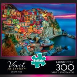 Cinque Terre (Vivid Collection) Seascape / Coastal Living Large Piece
