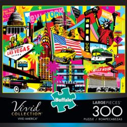 Vivid America Cities Large Piece