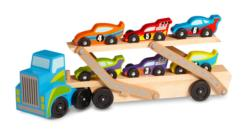 Mega Race-Car Carrier Toy