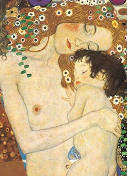 Mother and Child Contemporary & Modern Art Jigsaw Puzzle