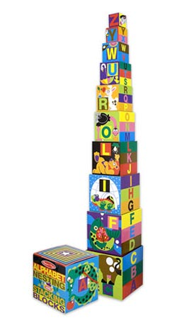 Alphabet Nesting & Stacking Blocks Educational Toy