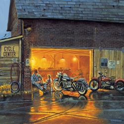King of the Road Motorcycles Jigsaw Puzzle