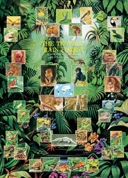 The Tropical Rain Forest Tigers Jigsaw Puzzle
