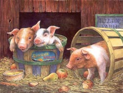 Three Pigs Farm Animals Jigsaw Puzzle