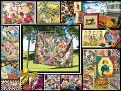 Quilt Montage Collage Jigsaw Puzzle