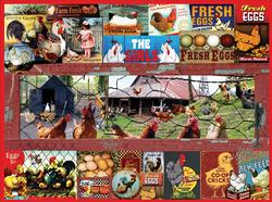 The Chicken or the Egg Chickens & Roosters Jigsaw Puzzle