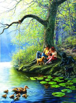 Places Remembered Spring Lakes / Rivers / Streams Jigsaw Puzzle