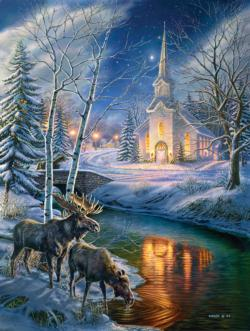 Church in the Clearing Winter Jigsaw Puzzle