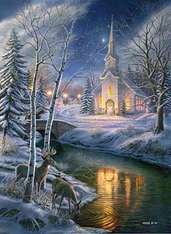 O Holy Night Deer Jigsaw Puzzle