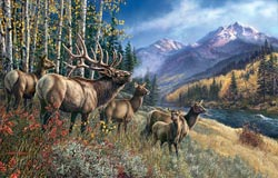 Elk Anthem Wildlife Jigsaw Puzzle