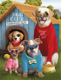 Dogs are Cool Dogs Jigsaw Puzzle