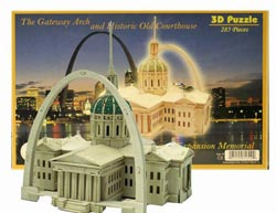 The Gateway Arch & Old Courthouse St. Louis 3D Puzzle