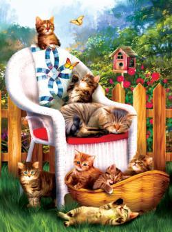 Mama's Cat Nap Cats Jigsaw Puzzle
