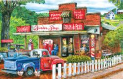 Saturday Morning at the Shop Nostalgic / Retro Jigsaw Puzzle