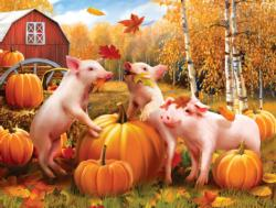 Pigs & Pumpkins Pig Large Piece