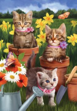 Garden Kitties Kittens Jigsaw Puzzle