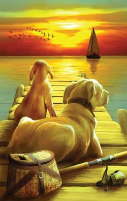 Dockside Sunset Sunrise/Sunset Jigsaw Puzzle