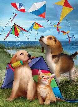 Let's Fly a Kite Baby Animals Large Piece