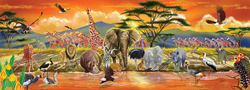Safari Floor Zebras Children's Puzzles