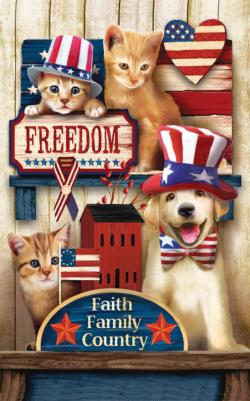 Let Freedom Ring Baby Animals Jigsaw Puzzle