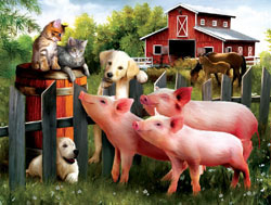 Making Some New Friends Farm Jigsaw Puzzle