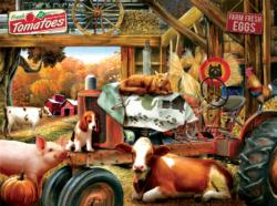 Barnhouse Meeting Pig Jigsaw Puzzle