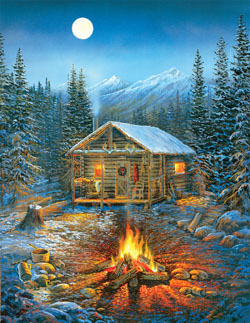 A Cozy Holiday Cottage / Cabin Large Piece