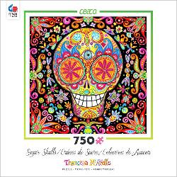 Momento Mori III (Sugar Skulls) Day of the Dead Jigsaw Puzzle