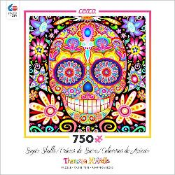 Desi (Sugar Skulls) Day of the Dead Jigsaw Puzzle
