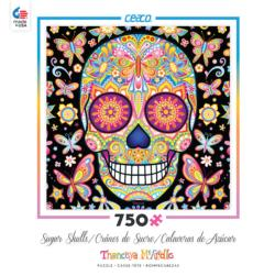 Mariposa (Sugar Skulls) Day of the Dead Jigsaw Puzzle