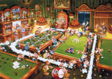 Billiard Cartoons Jigsaw Puzzle
