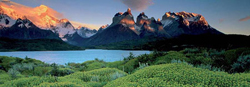 Cuernos del Paine Lakes / Rivers / Streams Panoramic Puzzle