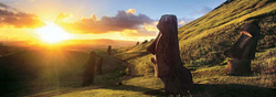 Easter Island Sunrise / Sunset Panoramic Puzzle