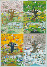 4 Seasons Cartoons Jigsaw Puzzle