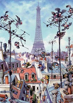 Eiffel Tower (Loup) Eiffel Tower Jigsaw Puzzle