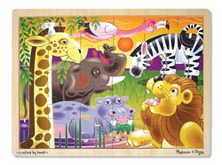 African Plains Elephants Children's Puzzles