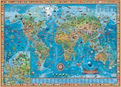 Amazing World Maps / Geography Jigsaw Puzzle