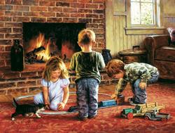 The Toy Train Domestic Scene Jigsaw Puzzle