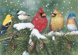 Cardinals & Friends Birds Jigsaw Puzzle