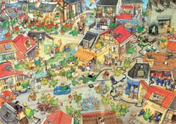 Dragontown Cartoons Jigsaw Puzzle