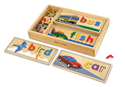 See & Spell Educational Wooden Jigsaw Puzzle