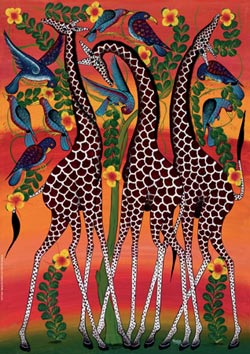 Giraffes (Tinga Tinga) Jungle Animals Jigsaw Puzzle