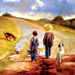A Fine Afternoon for Fishing Fishing Jigsaw Puzzle